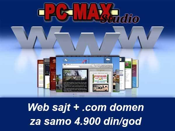 Izrada i održavanje web sajtova - PCMAX Studio