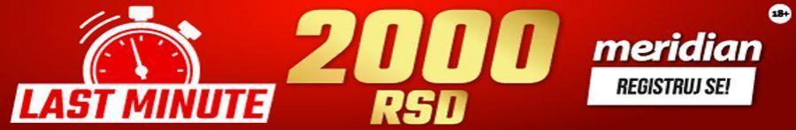 Meridian - 2000 dinara za prvi tiket