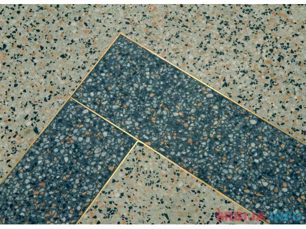 Brusenje i poliranje teraca i mermera, liveni teraco kamen