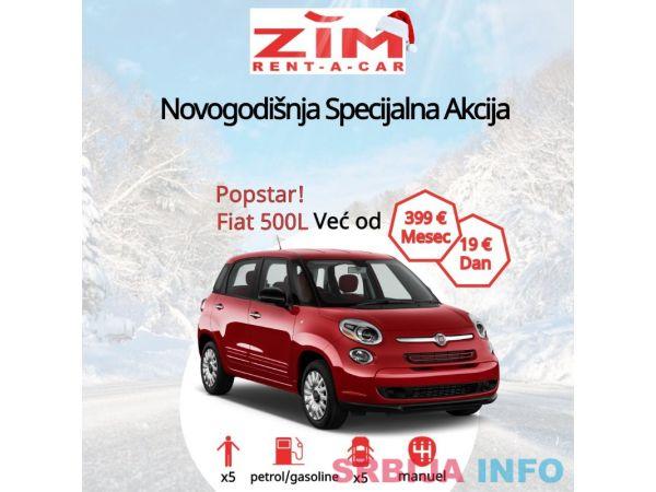 Novogodišnja ponuda: Fabia / Corsa 17.00€, Fiat 500L 19.00€,