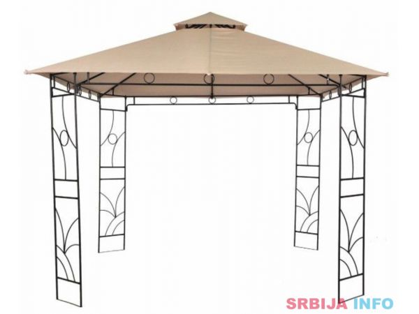 Metalna gazebo tenda Panama sa duplim krovom 3 x 3m