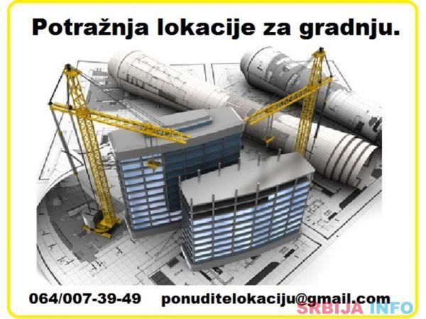 Potraznja lokacije za izgradnju stambenog objekta