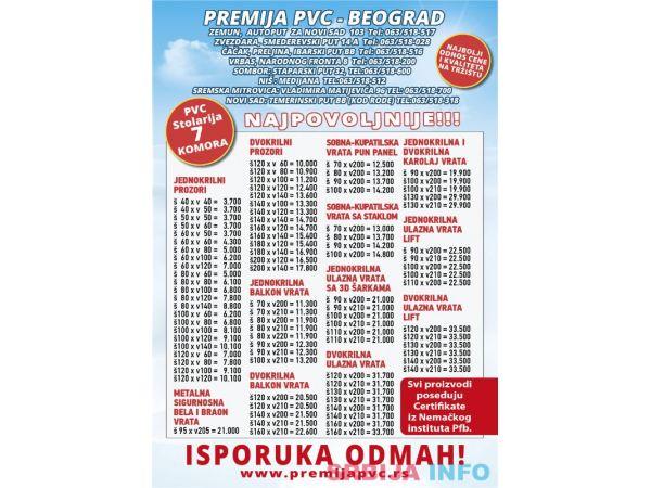 Najpovoljnija PVC stolarija u Srbiji