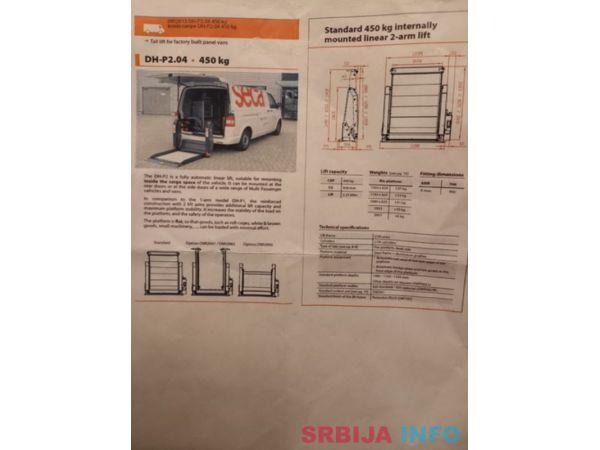 Prodajem rampu DHOLLANDIA DH-P2.04 nosivost 450 kg.