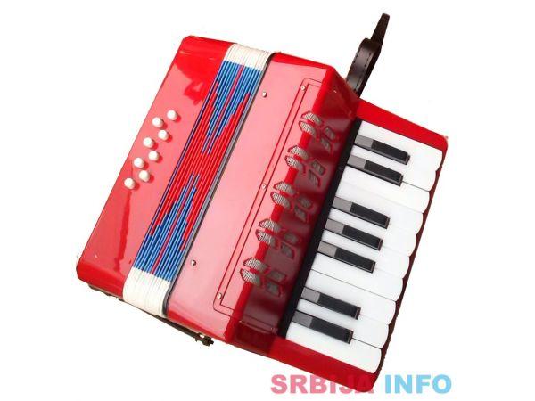 Harmonika za decu crvena