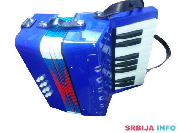 Harmonika za decu plava