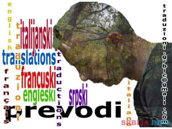 PREVODILAC SA ITALIJANSKOG/FRANCUSKOG/ENGLESKOG NA SRPSKI