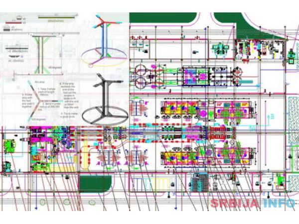 Crtam u AutoCad-u u 2D i 3D sve tehničke nacrte, kao i logoe