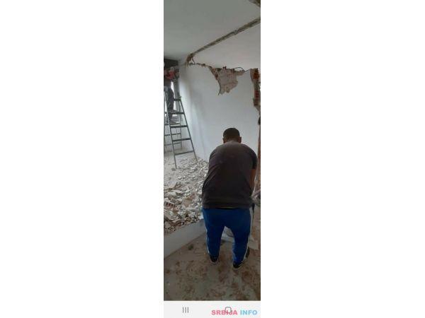Rusenje zidova plocica odvoz suta