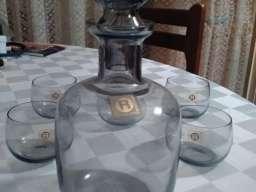 Servis za žestoka pića-dimljeno staklo