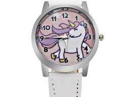 Ručni sat za devojčice - Jednorog / Unicorn (beli) 2