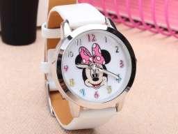 Ručni sat za devojčice - Mini Maus/Minnie Mouse (beli/rozi)