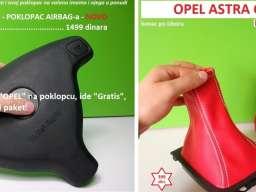 POKLOPAC AIR BAG-a + kožica menjača i ručne za Opel Astru G