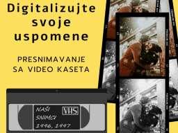 Prebacivanje sa video kaseta na DVD/USB fleš memoriju