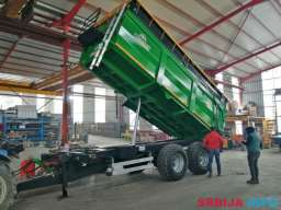 Prikolice HUMMEL tandemka kada dve osovine nosivosti 18 tona